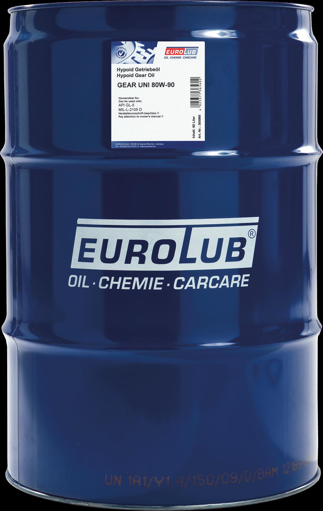 EUROLUB Gear Uni SAE 80W/90 (мінеральна олива)