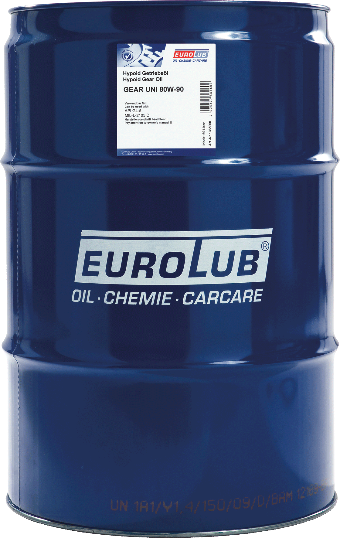 EUROLUB Gear Uni SAE 80W/90 (минеральное), 60л
