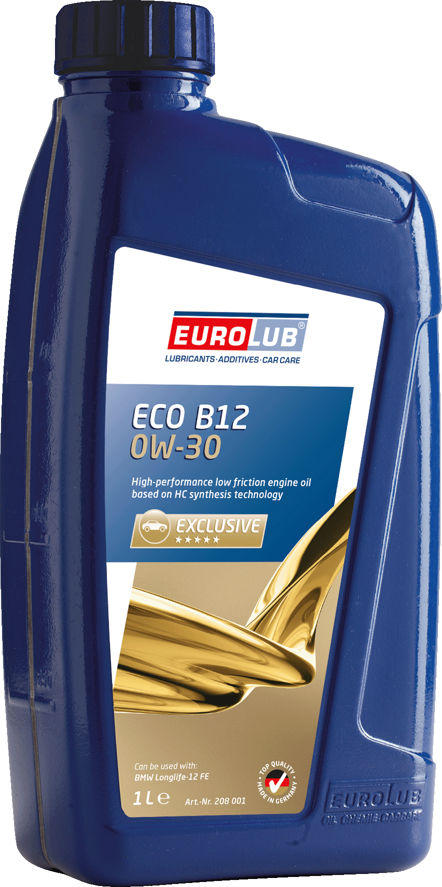 EUROLUB ECO B-12  SAE 0W/30 (синтетическое, Mid SAPS), 1л