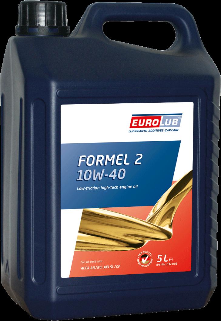EUROLUB Formel 2 SAE 10W/40 (полусинтетическое), 5л