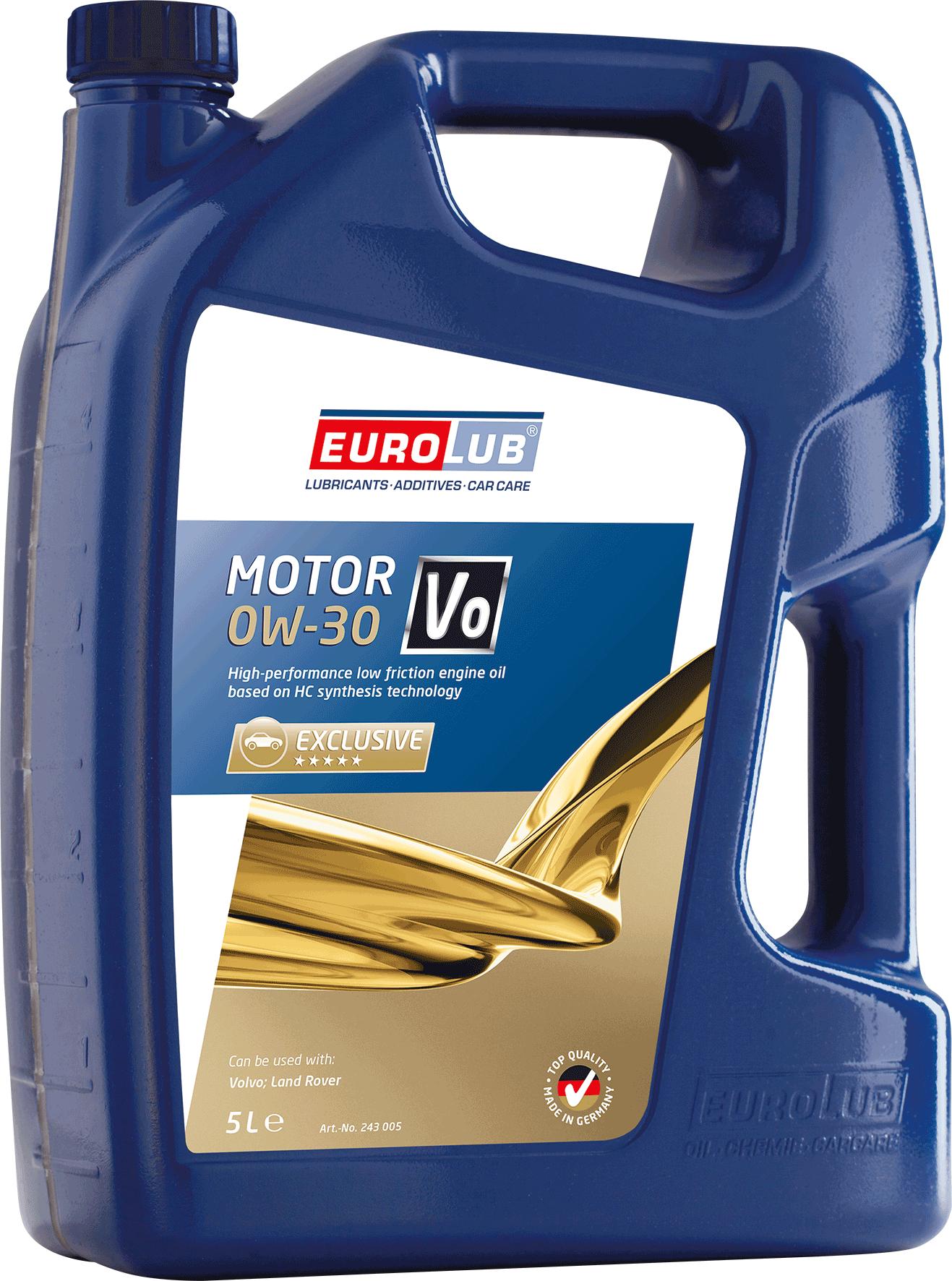 EUROLUB Motor VO SAE 0W/30 (синтетическое), 5л
