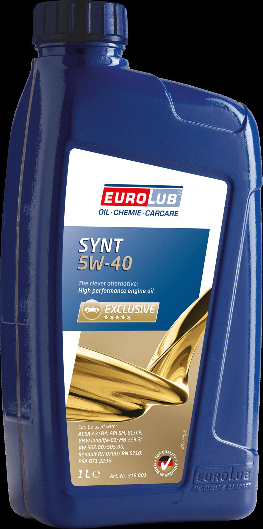 EUROLUB SYNT SAE 5W/40 (синтетическое), 1л