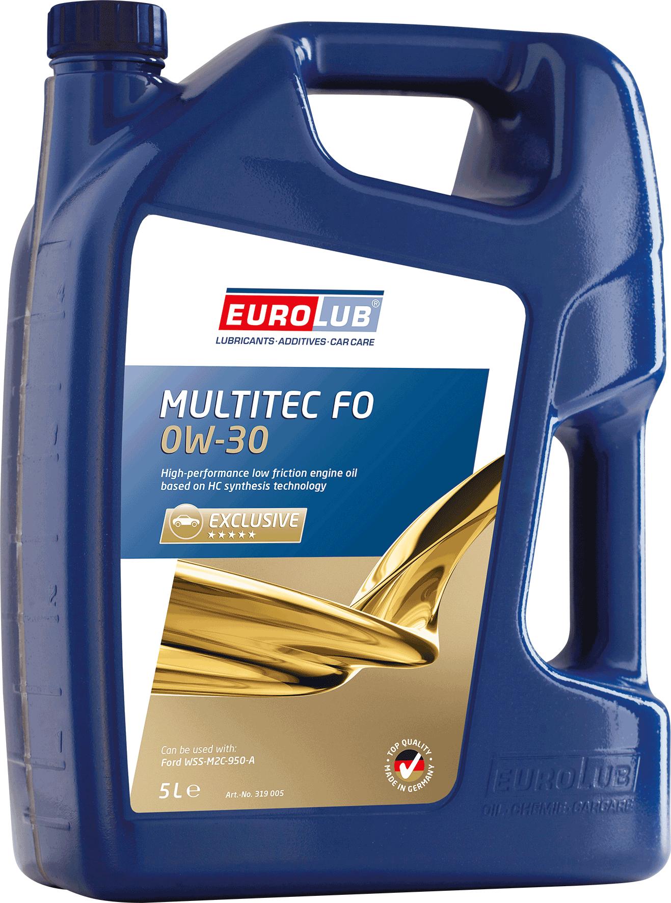 EUROLUB ECO MULTITEC FO SAE 0W/30 (синтетическое, Mid SAPS), 5л