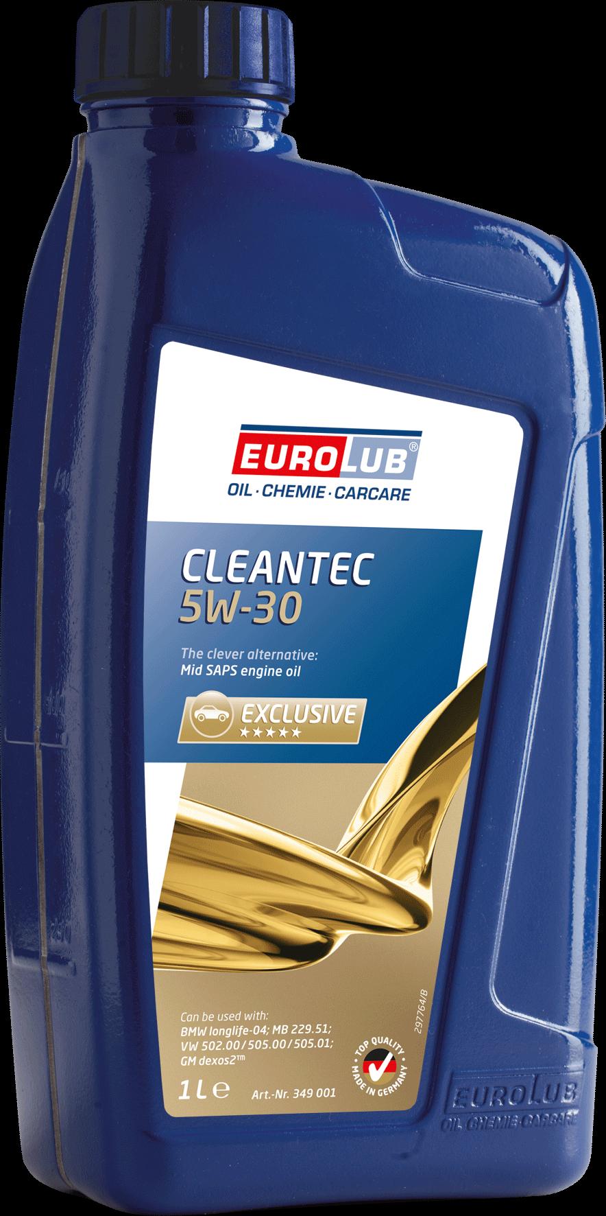 EUROLUB CLEANTEC SAE 5W/30 (синтетическое, Mid SAPS) , 1л