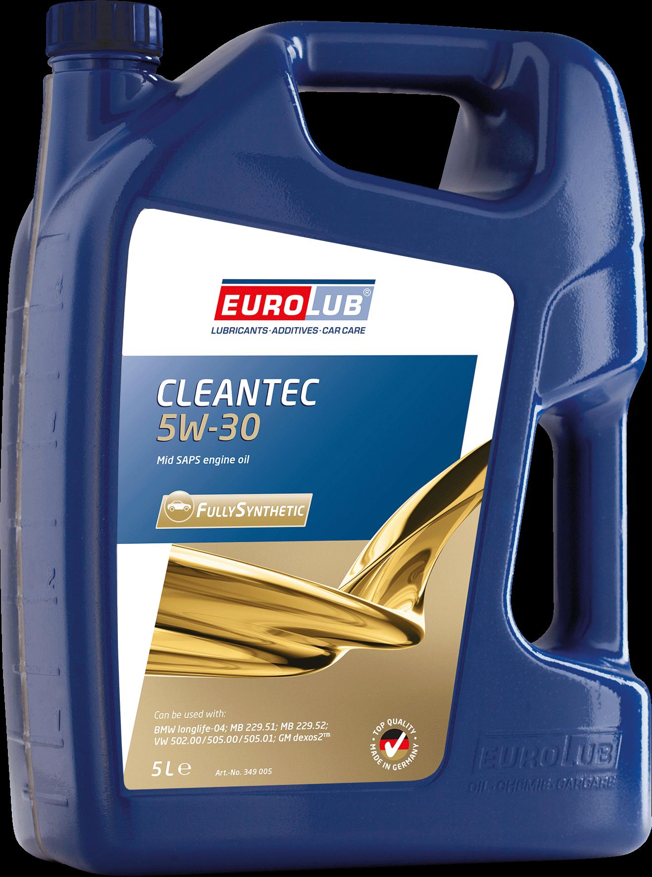 EUROLUB CLEANTEC SAE 5W/30 (синтетическое, Mid SAPS) , 5л