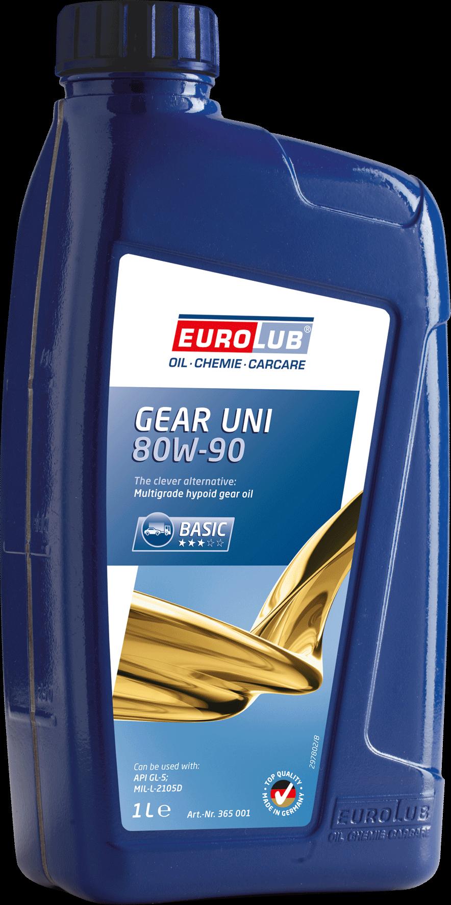 EUROLUB Gear Uni SAE 80W/90 (минеральное), 1л