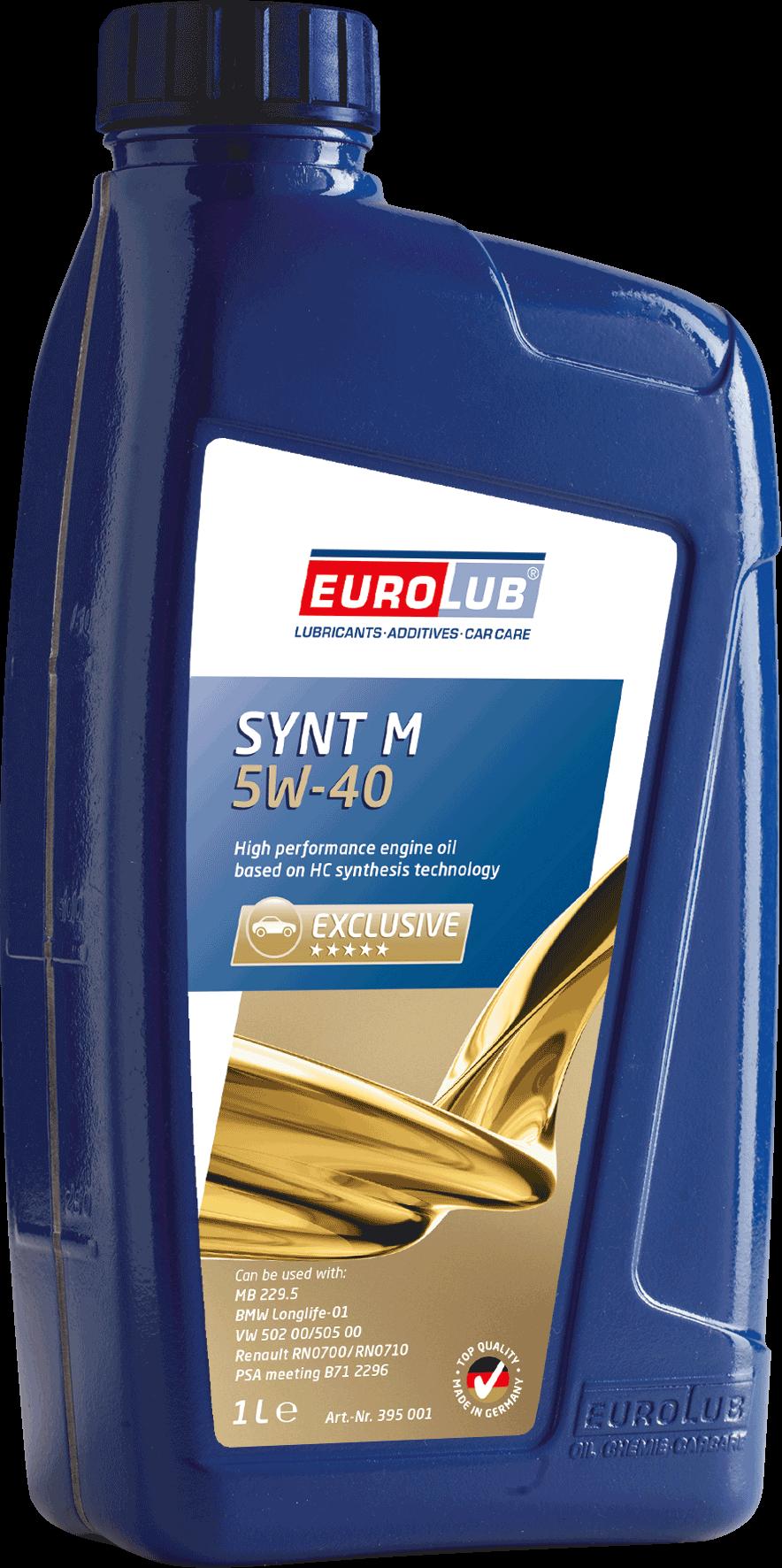 EUROLUB   SYNT M SAE 5W/40 (синтетическое), 1л
