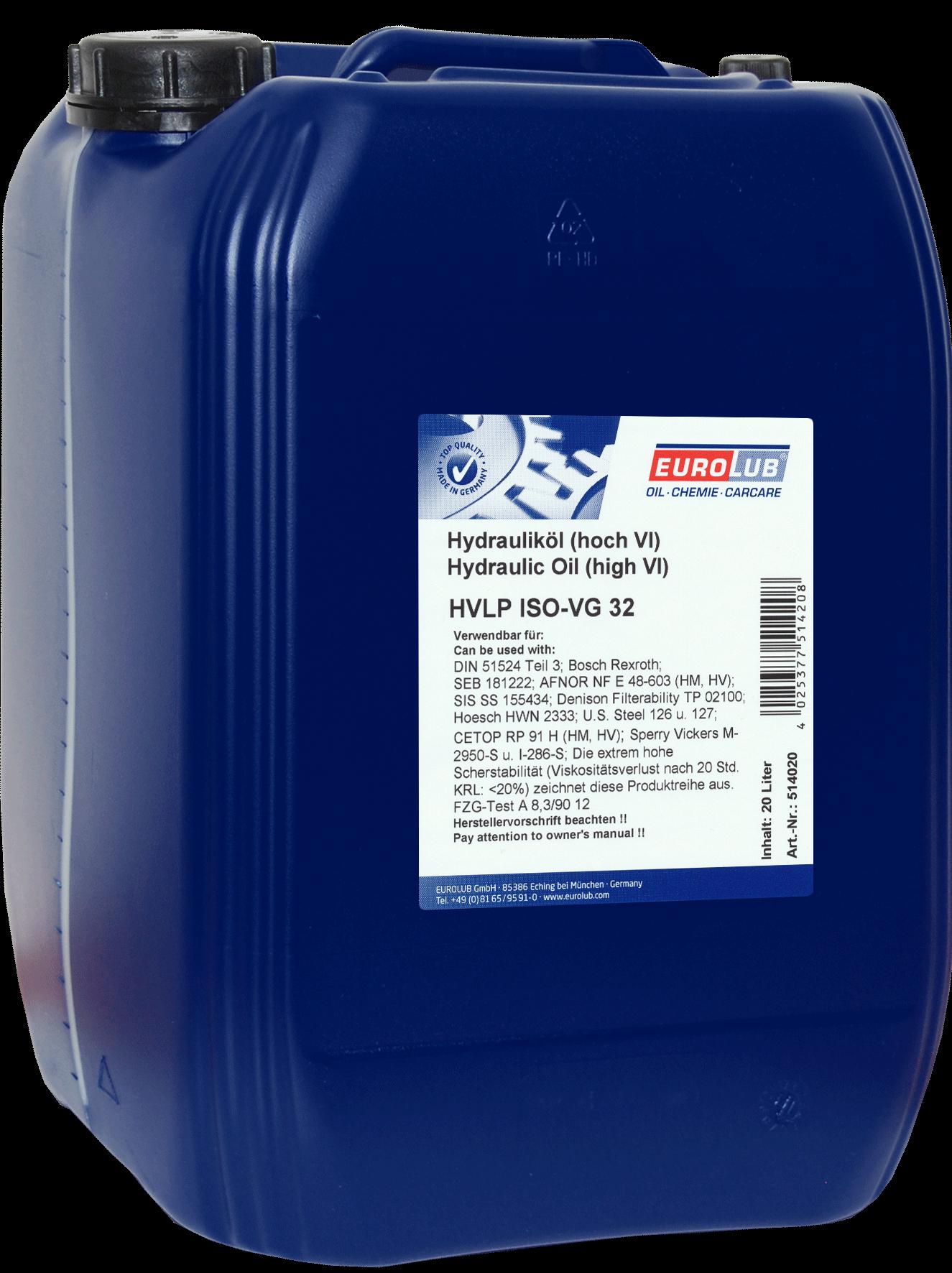 EUROLUB HVLP ISO-VG 32, 20л