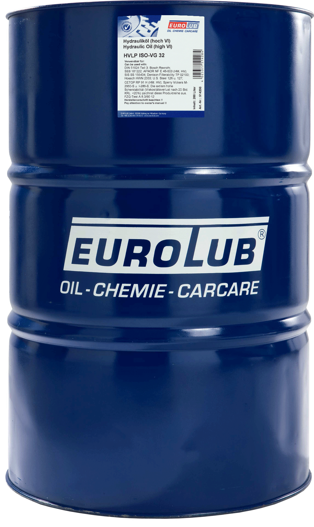 EUROLUB HVLP ISO-VG 32, 208л