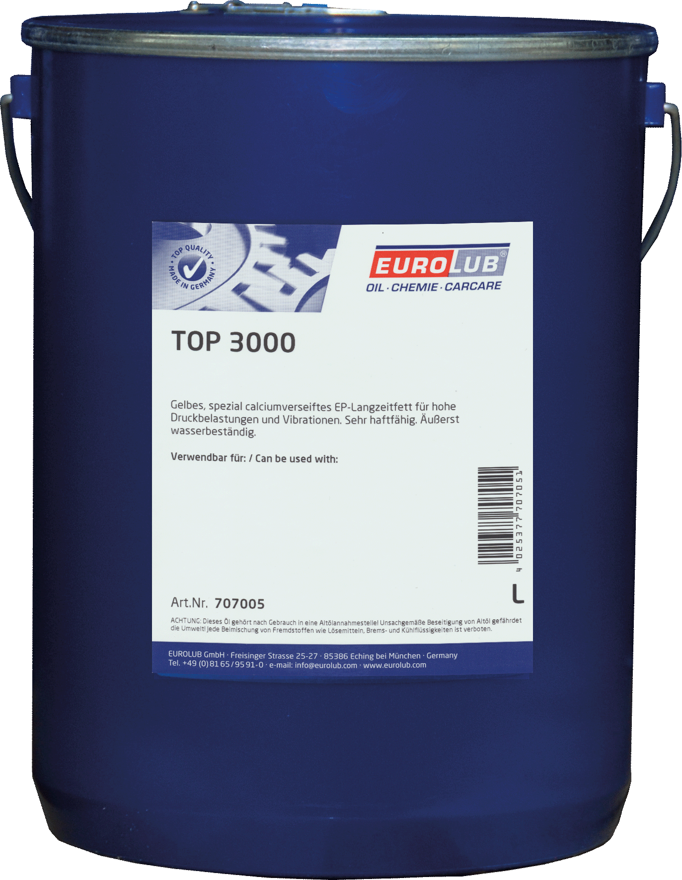 EUROLUB Top 3000 (кальцієве мастило)