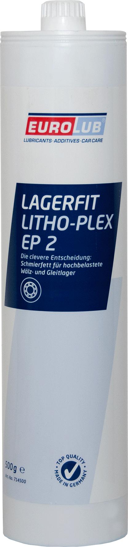 EUROLUB Lagerfit Lithoplex EP 2 (литиевая смазка, c повышеной рабочей температурой), 0.5л