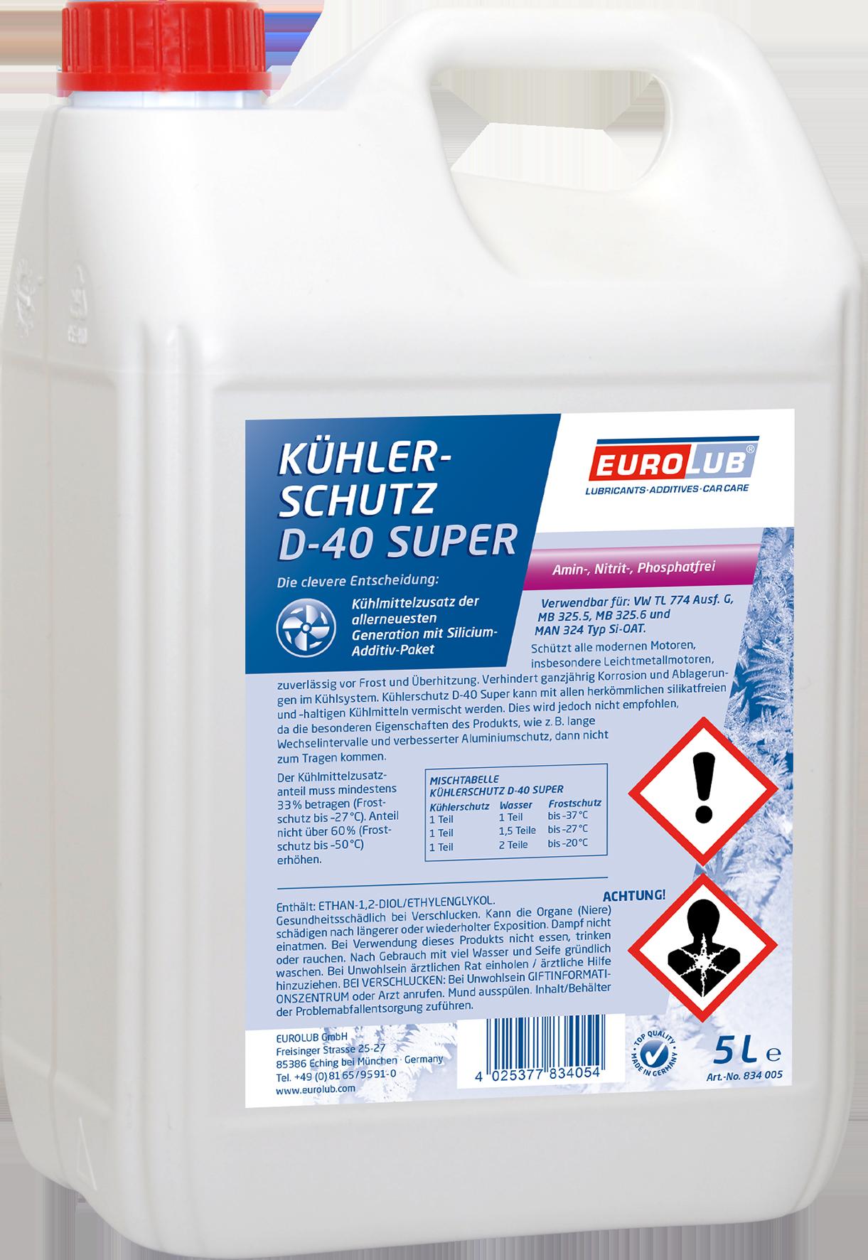EUROLUB Kuhlerschutz  D-40 Super, 5л