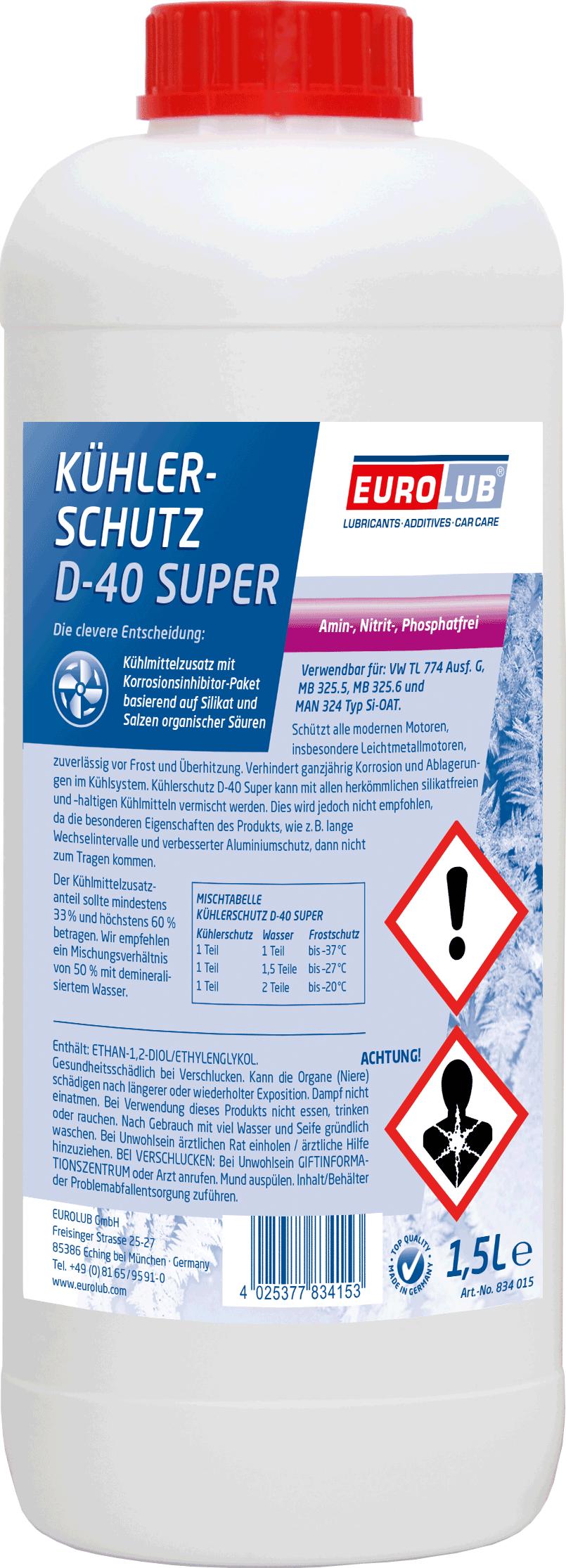 EUROLUB Kuhlerschutz  D-40 Super, 1.5л
