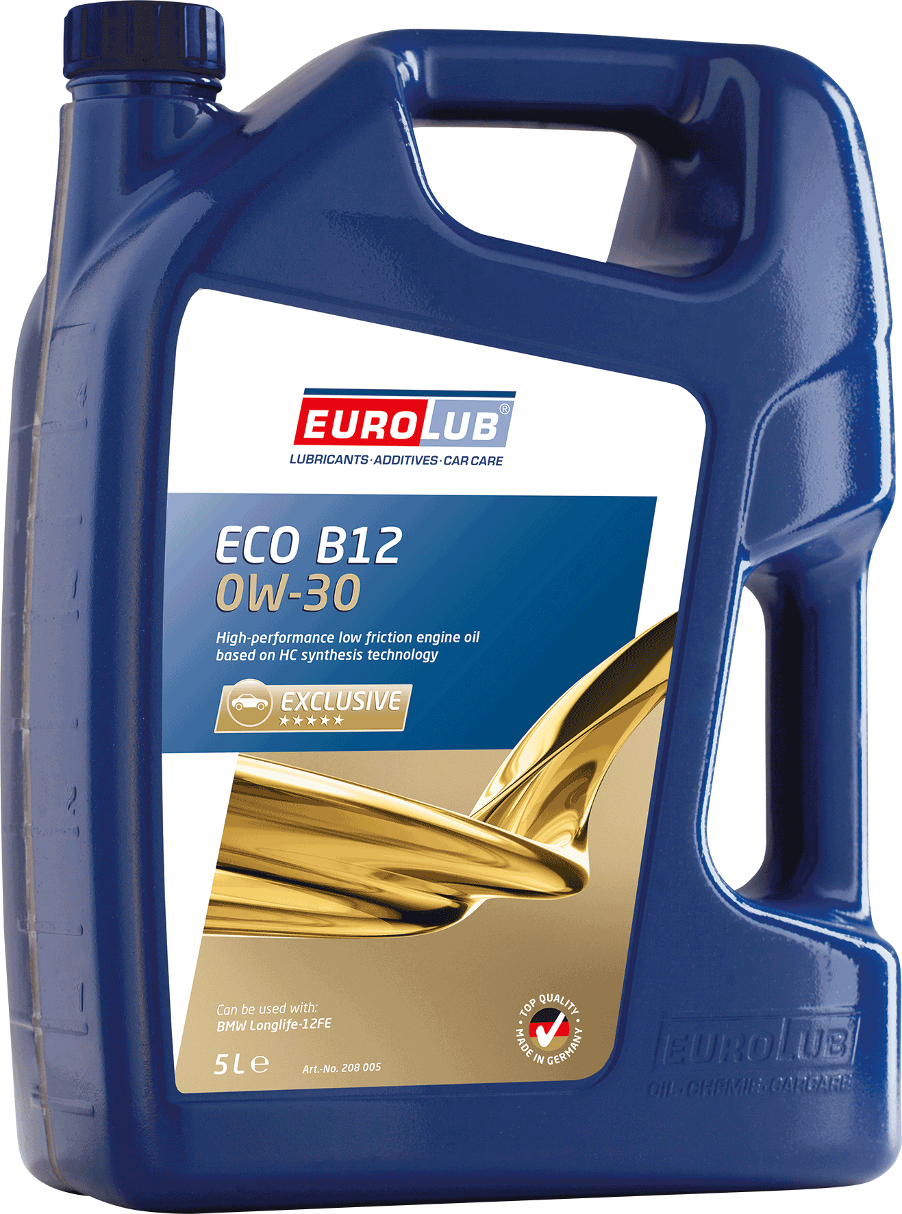 EUROLUB ECO B-12  SAE 0W/30 (синтетическое, Mid SAPS), 5л