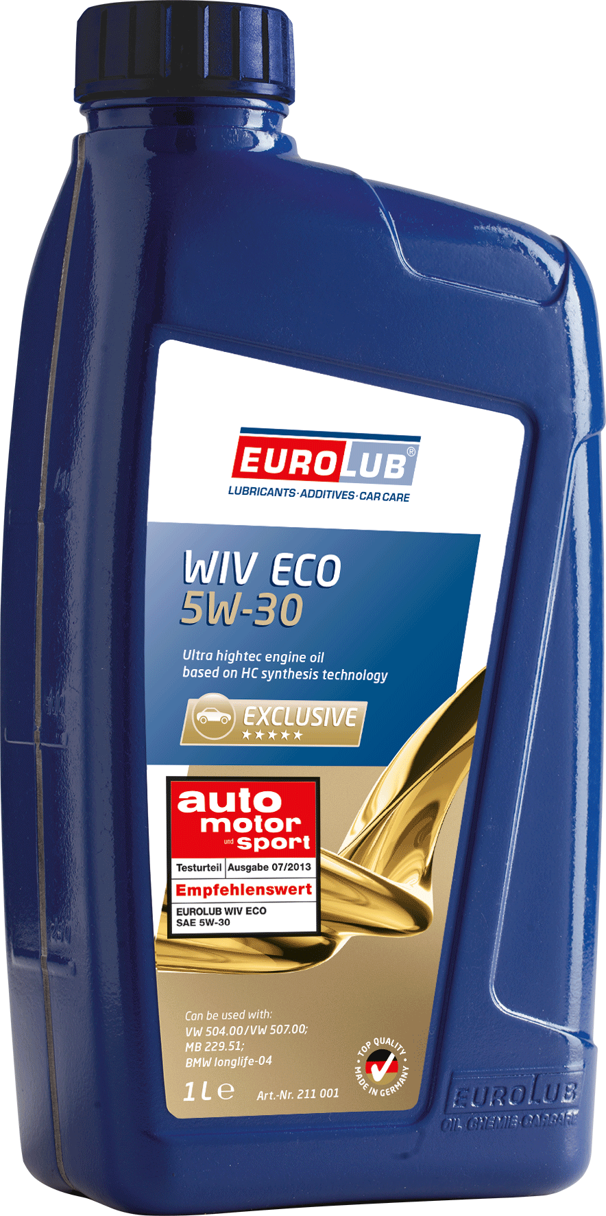 EUROLUB WIV ECO SAE 5W/30 (синтетическое, Low SAPS) , 1л