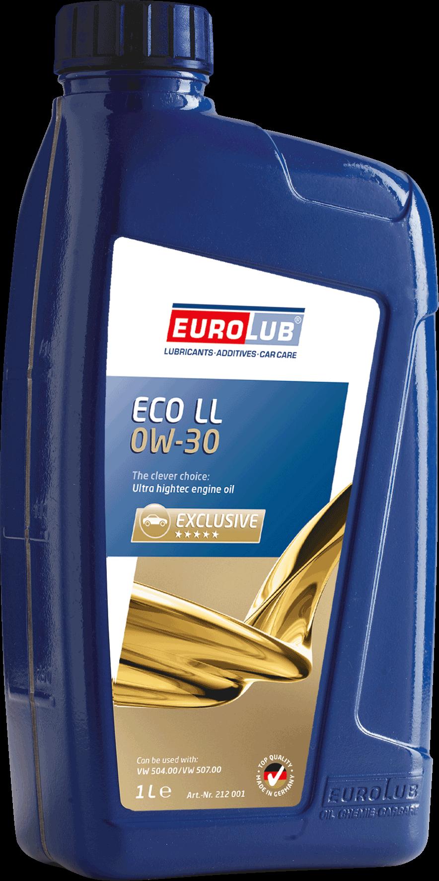 EUROLUB ECO LL  SAE 0W/30  (синтетическое, Low SAPS), 1л
