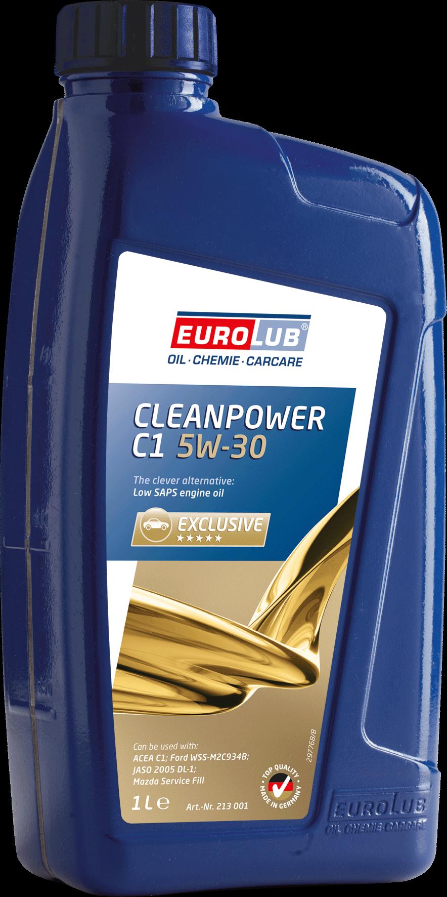 EUROLUB CLEANPOWER C1, SAE 5W/30, (синтетическое, Mid SAPS) , 1л