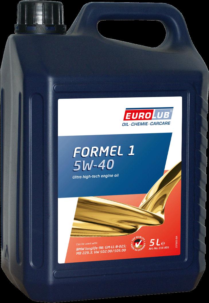 EUROLUB Formel 1 SAE 5W/40 (синтетическое), 5л