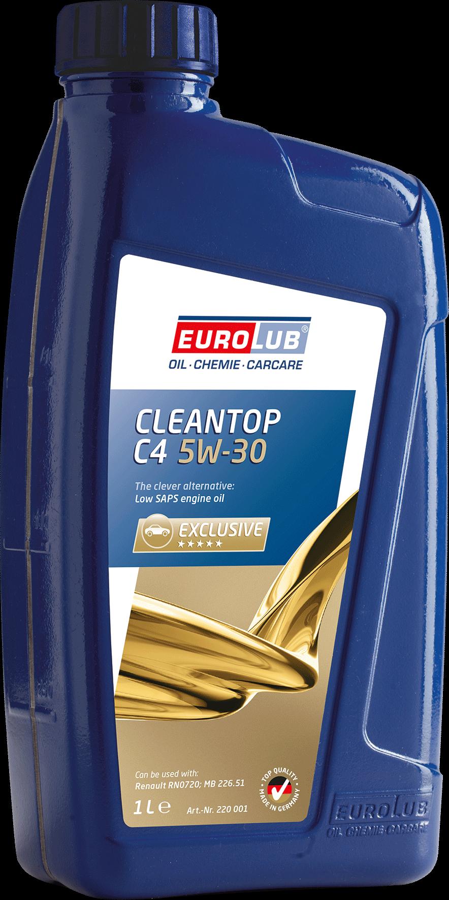 EUROLUB CLEANTOP C4, SAE 5W/30, (синтетическое, Low SAPS), 1л