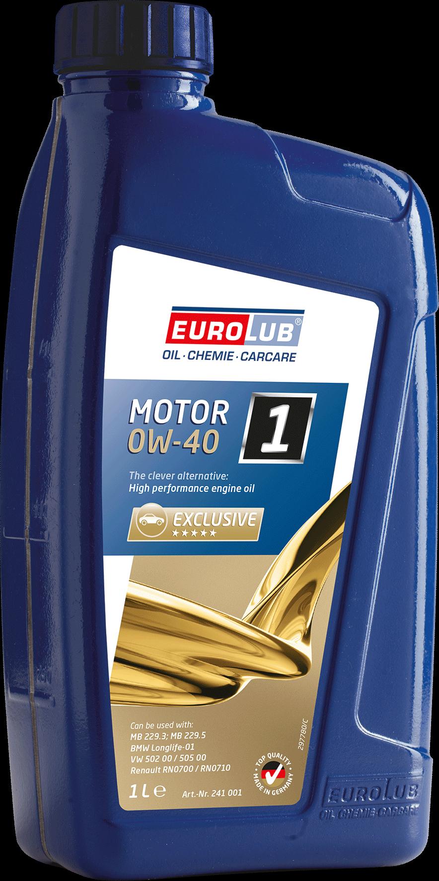 EUROLUB Motor 1 SAE 0W/40 (синтетическое), 1л