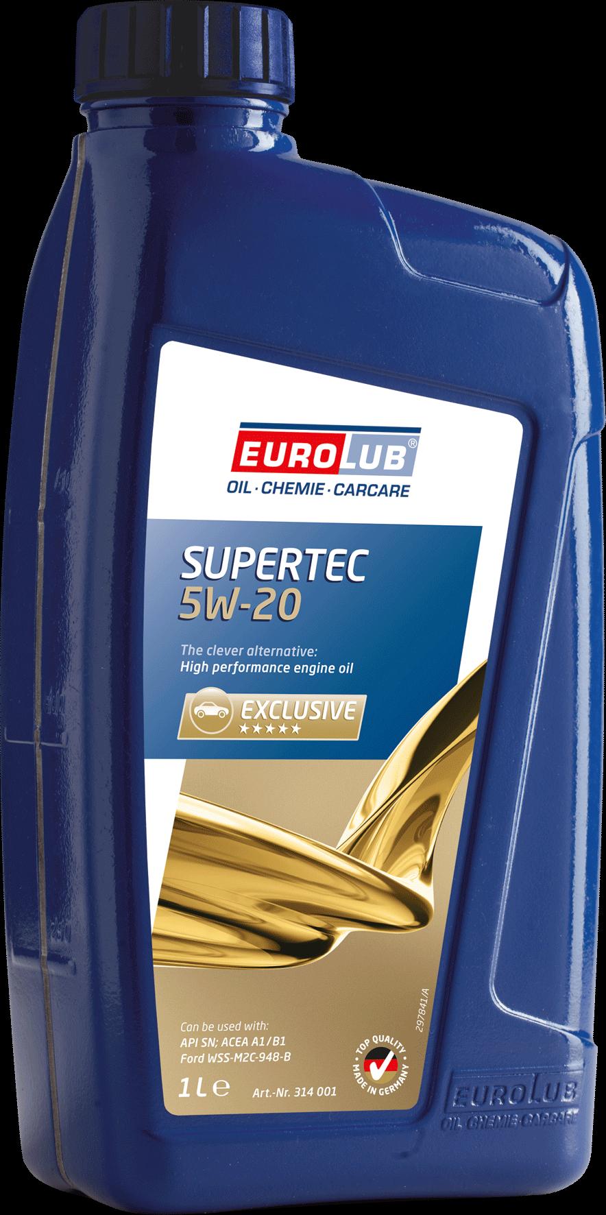 EUROLUB SUPERTEC SAE 5W/20 (синтетическое), 1л