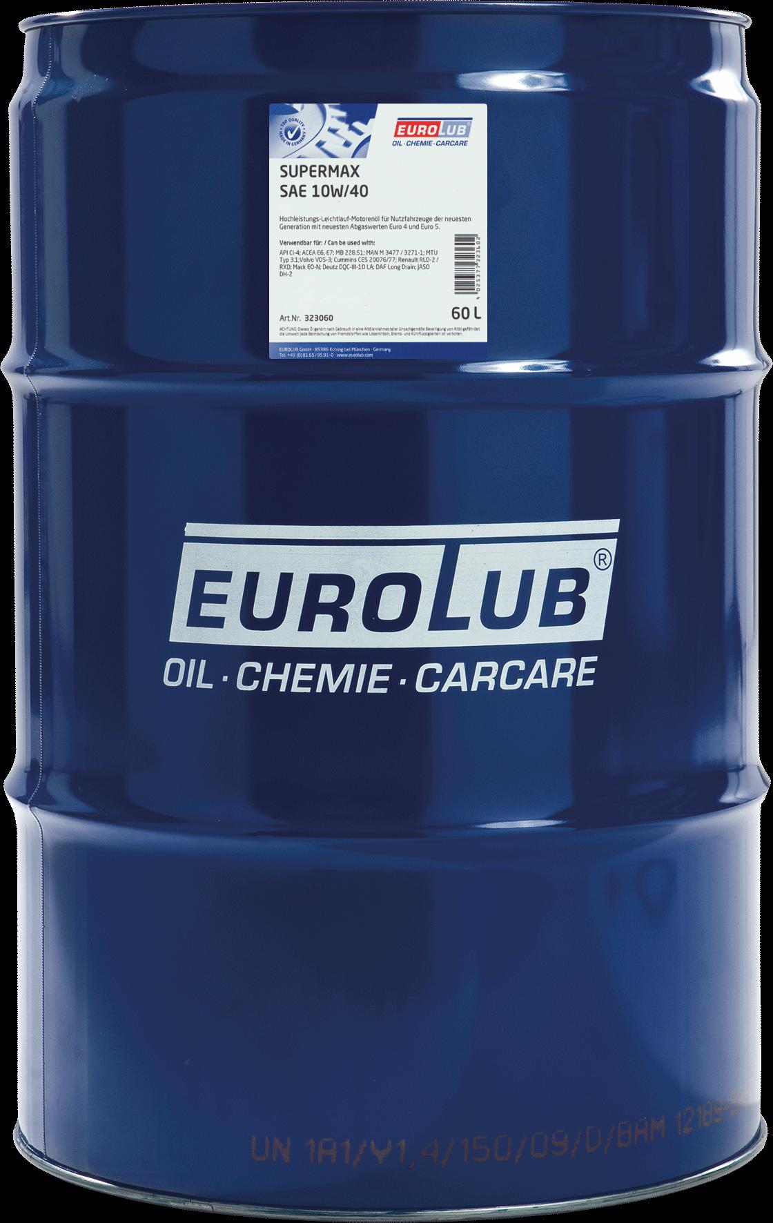 Моторное масло EUROLUB SUPERMAX SAE 10W/40 (LowSAPS)