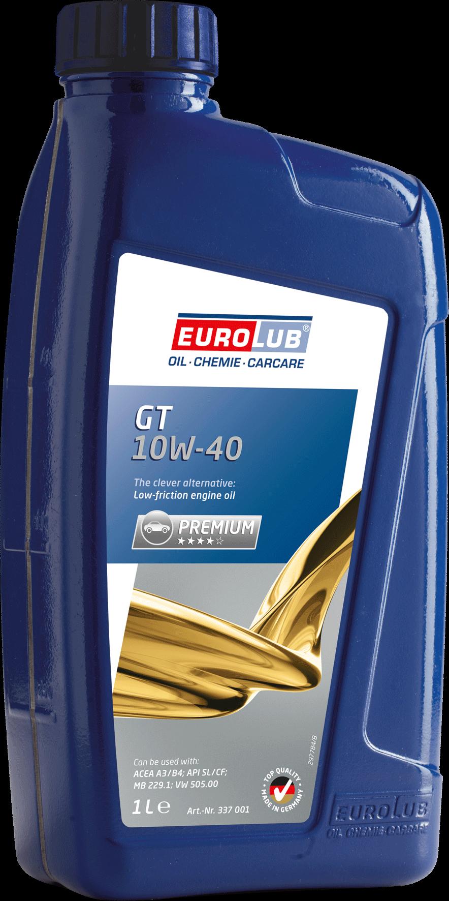 EUROLUB GT SAE 10W/40  (полусинтетическое), 1л