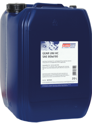 Трансмиссионное масло EUROLUB Gear Uni HC SAE 80W/90