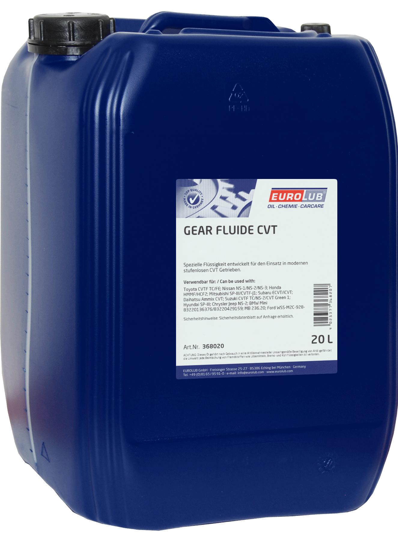 EUROLUB Gear Fluide CVT (для коробок вариаторов), 20л