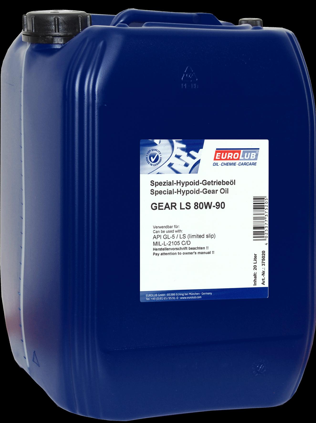 EUROLUB Gear LS SAE 80W/90 (Limited Slip), 20л