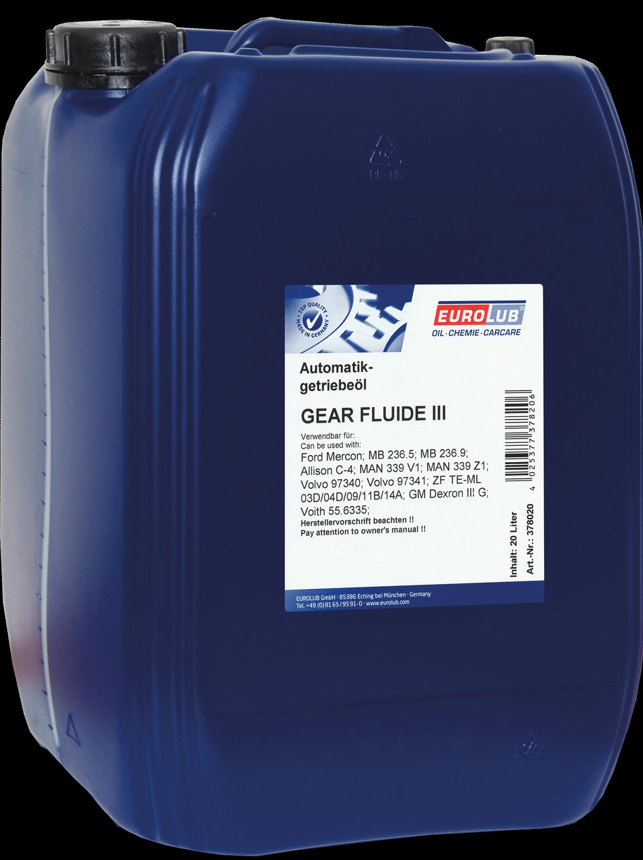 EUROLUB Gear Fluide III, 20л