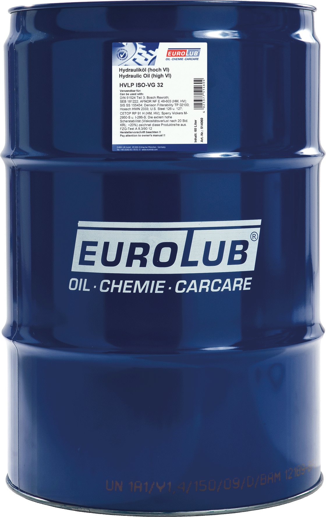Гидравлическое масло EUROLUB HVLP ISO-VG 32
