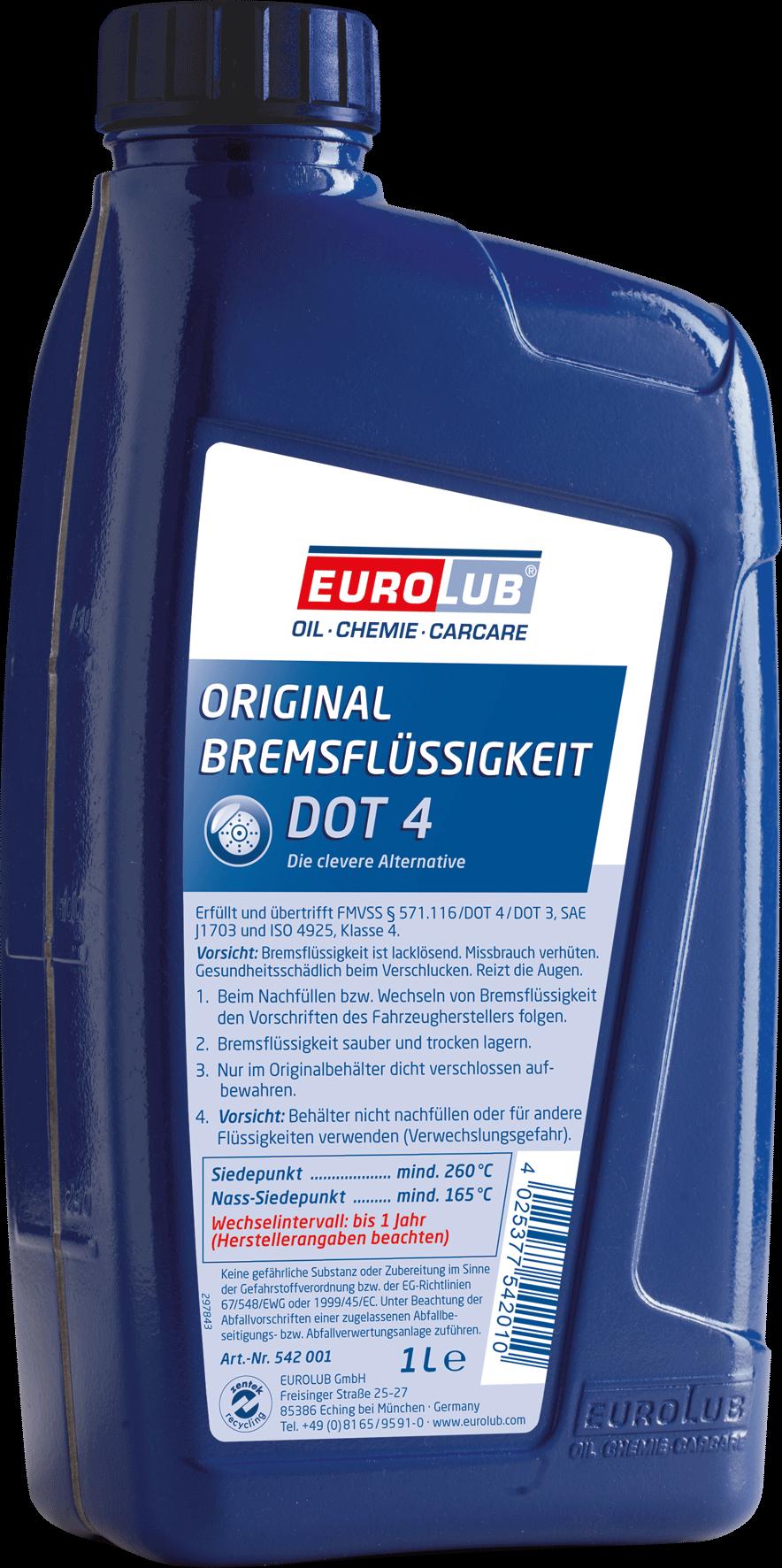 EUROLUB Bremsflussigkeit DOT4, 1л