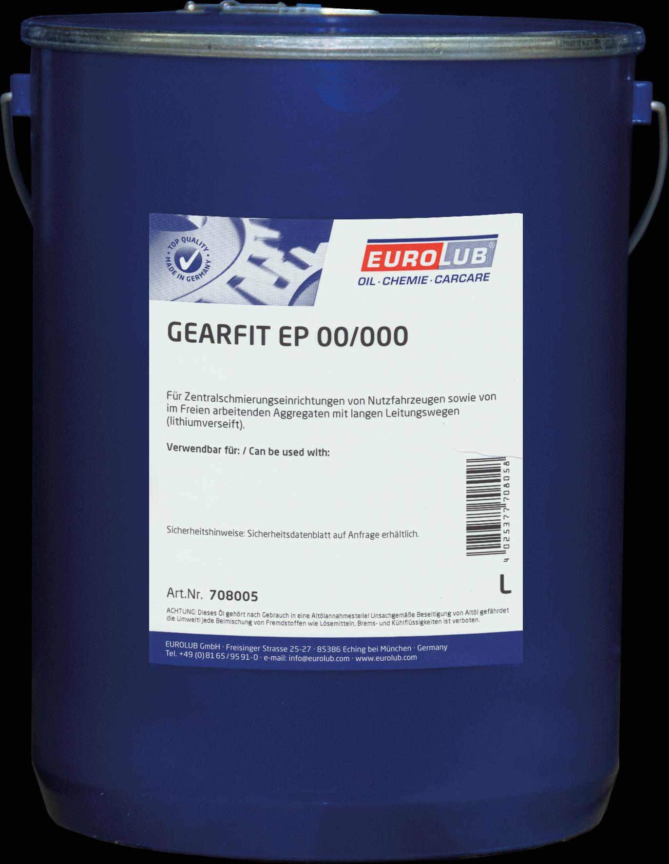 Eurolub Gearfit EP00/000 (смазка для централизованных систем), 5л