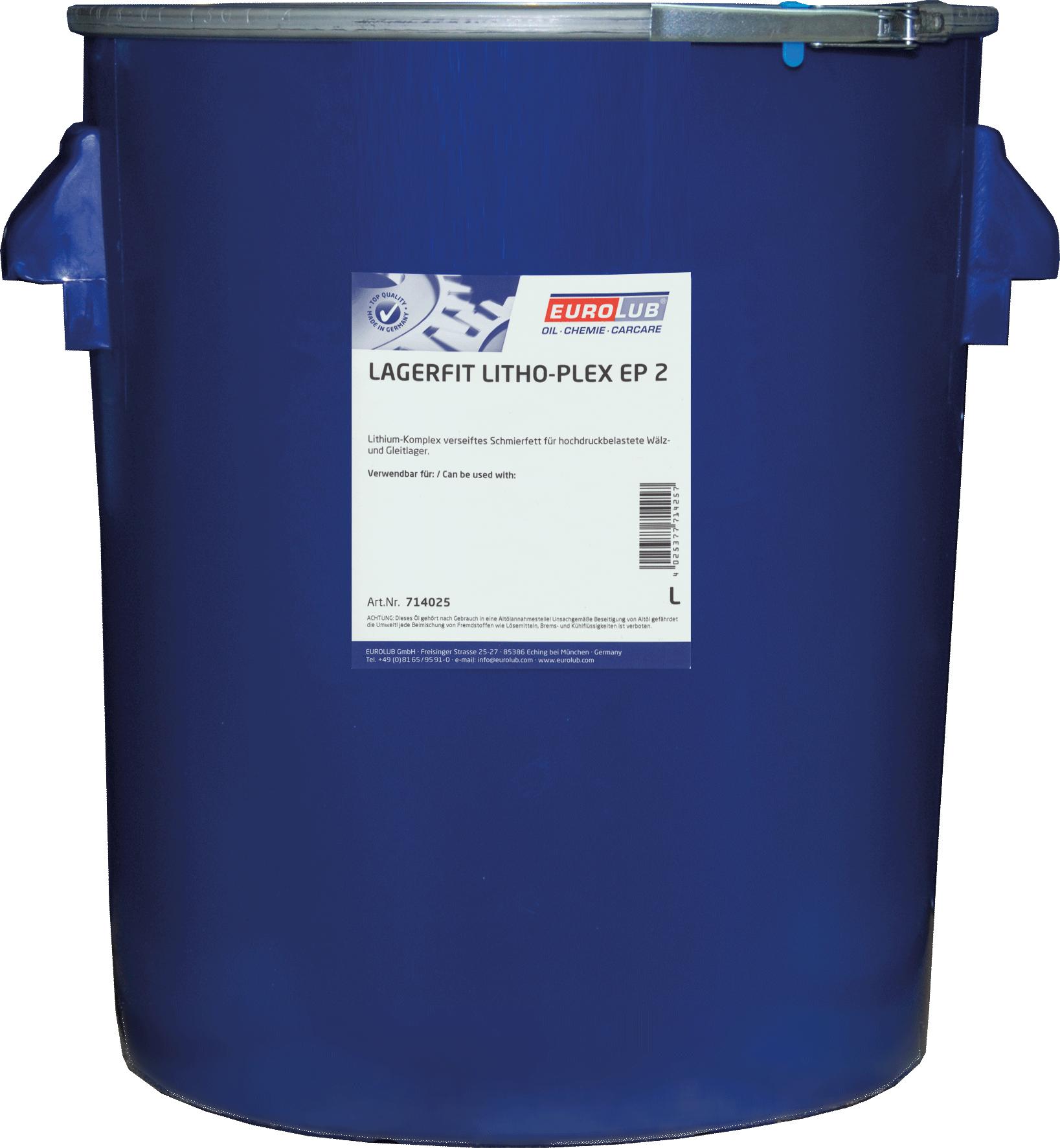 EUROLUB Lagerfit Lithoplex EP 2 (литиевая смазка, c повышеной рабочей температурой), 25л