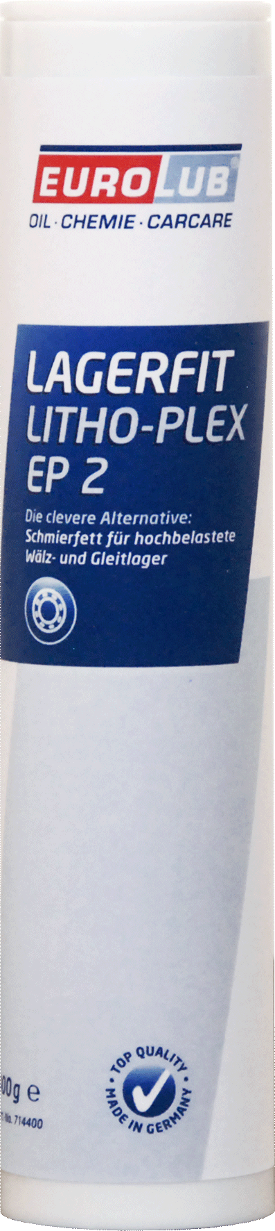 EUROLUB Lagerfit Lithoplex EP 2 (литиевая смазка, c повышеной рабочей температурой), 0.4л